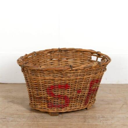 French Champagne Harvest Basket DA287295