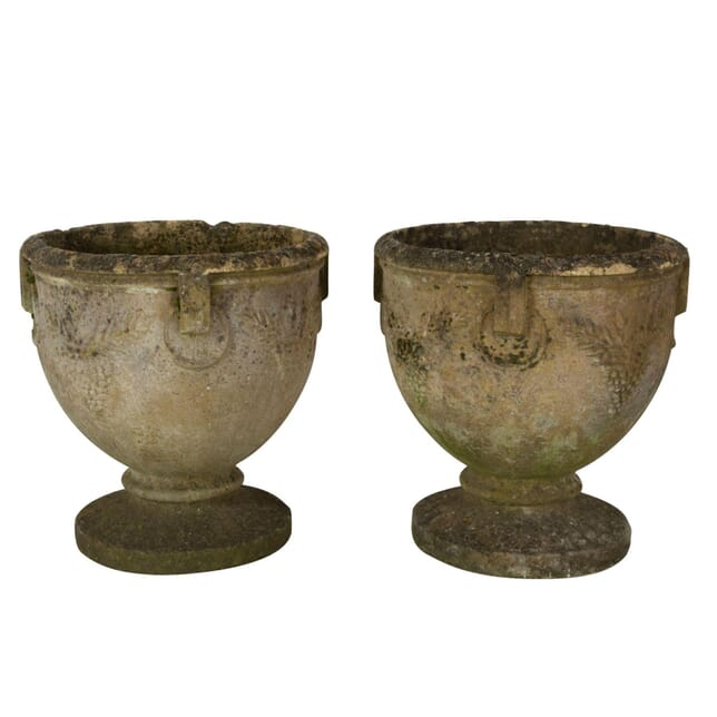 Pair of Goblet Shaped Garden Urns GA7260788