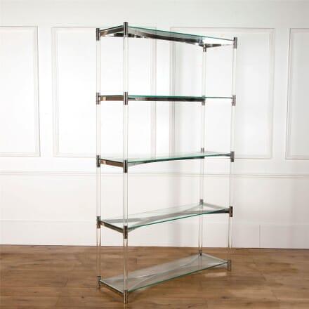 Lucite and Chrome Open Shelves BK6362649