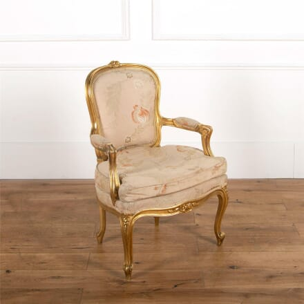 19th Century French Gilt Wood Chair CH727543