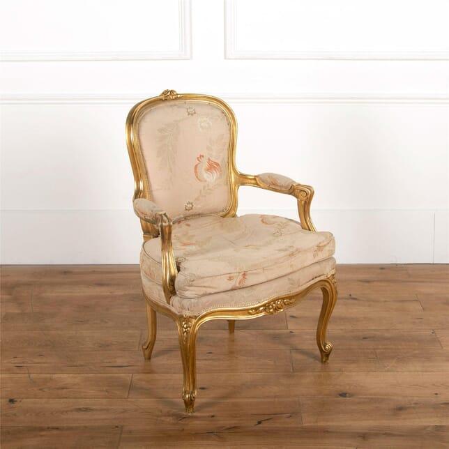 19th Century French Gilt Wood Chair CH727543