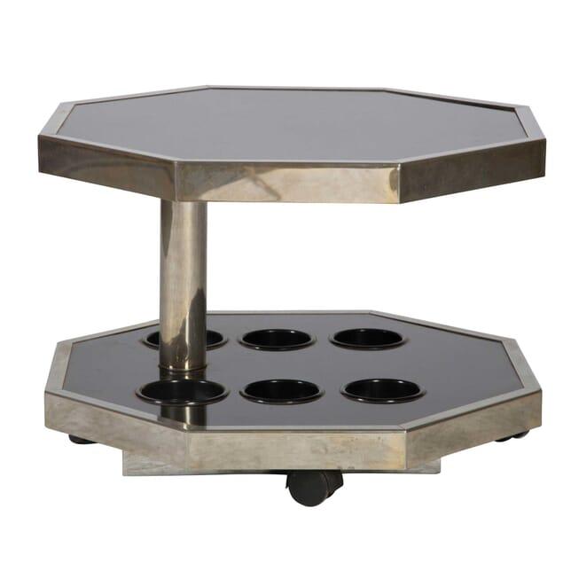 Black and Chrome Bar Table TC4812411