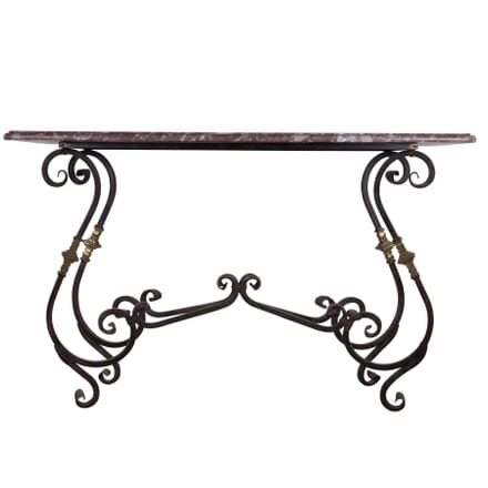 Marble, Gilt and Wrought Iron Patisserie Table CO5860321