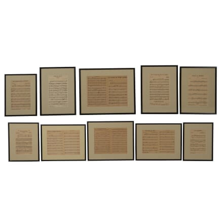 Set of French Music Prints WD3562438