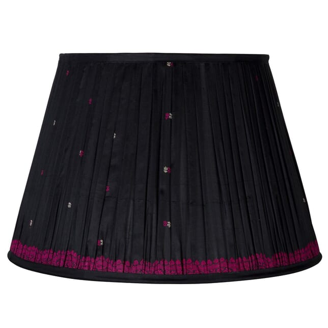 50cm Black & Pink Silk Lampshade LS665913