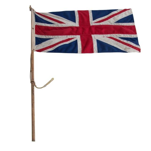 1920s Union Jack Flag and Pole DA998928