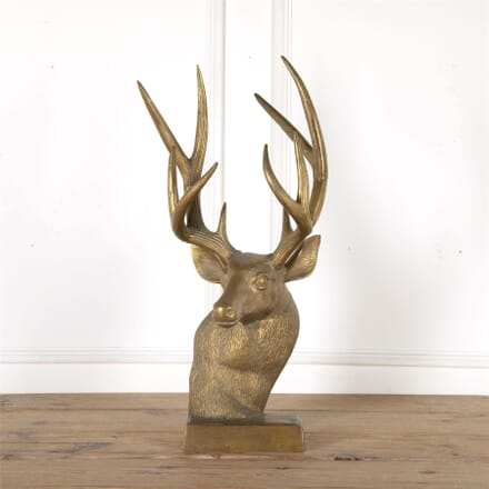 20th Century Brass Stags Head DA6261947