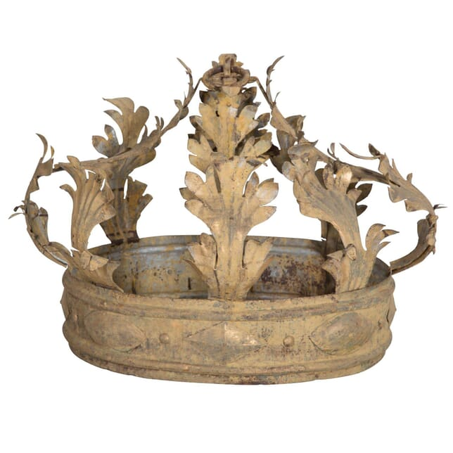 French early 19th century metal corona. DA023969