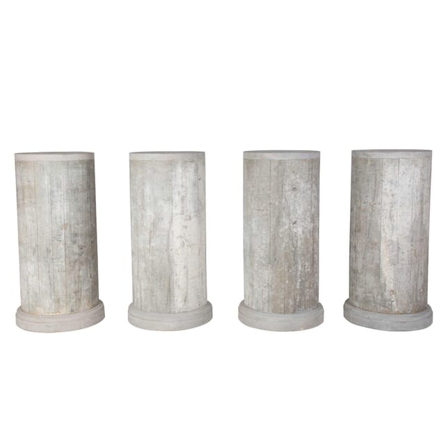 SET OF FOUR DIRECTOIRE WOODEN COLUMNS DA1212711