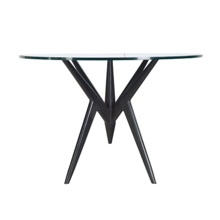 1960s Black Lacquered and Glass Dining Table TD4055500