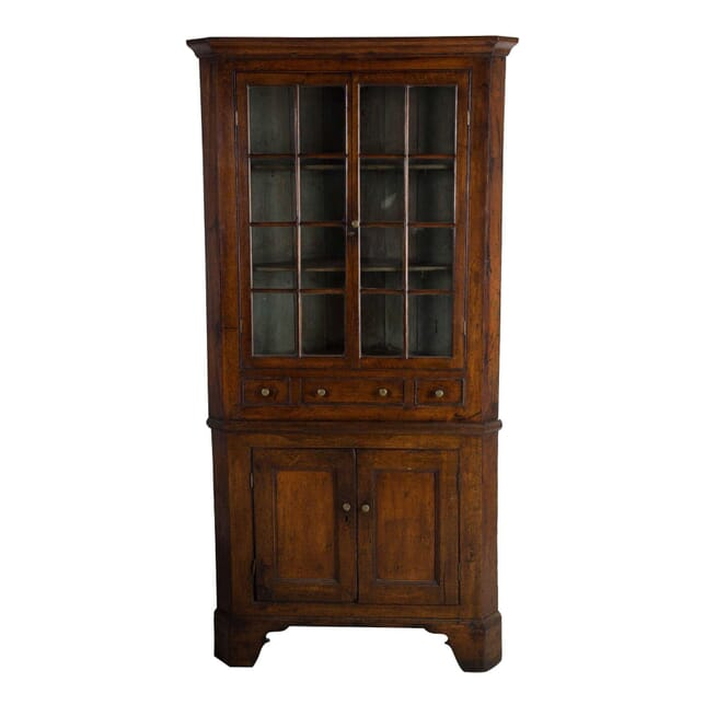 Welsh Glazed Corner Cupboard CU2812571