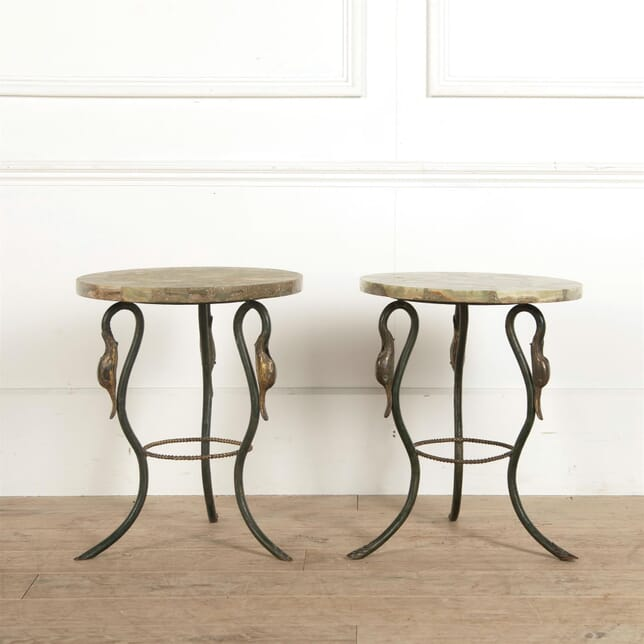 Pair of Green Stone Tables CO297402