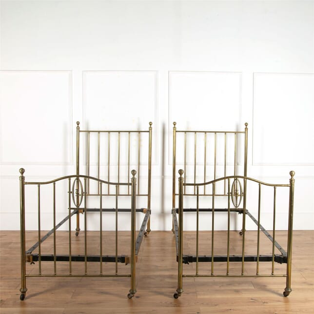 Pair of Edwardian Brass Beds BD107244
