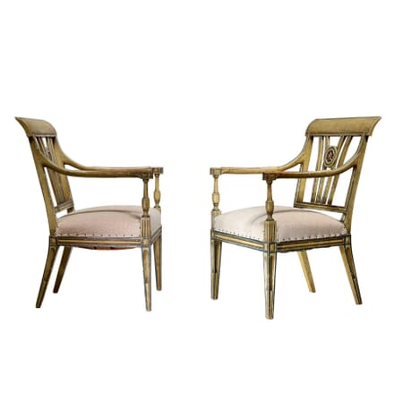 Pair of Early 20th Century Painted Chairs CH0660338