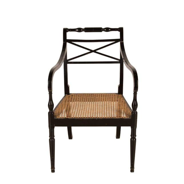 Ebonised Carver Chair CH9961082