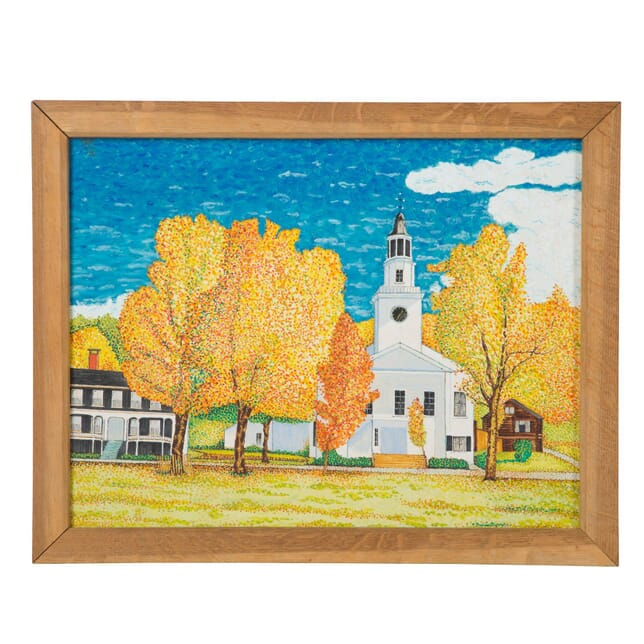Autumn Leaves in New England Painting by Frank Clements WD6859709