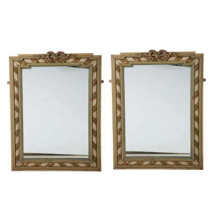 Pair of French Painted Mirrors MI5260686