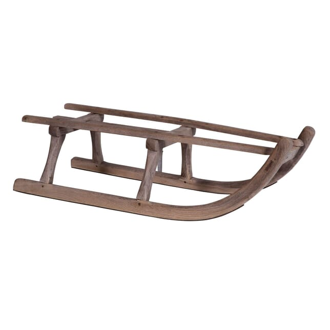Late Victorian Wooden Sit On Snow Sleigh DA5959401