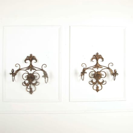 Pair of Large Italian Wall Sconces LW0161298