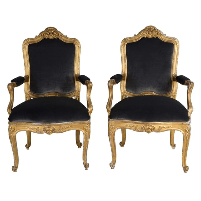 Pair of Swedish Open Armchairs CH4159039