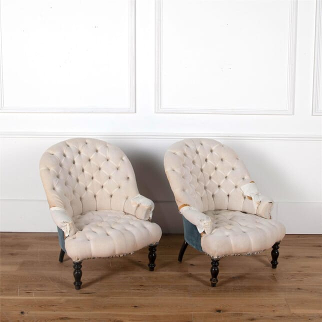 Napoleon III Buttoned Armchairs CH6362019