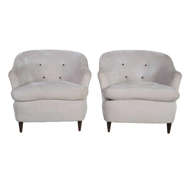 Pair of Italian Armchairs CH9055745