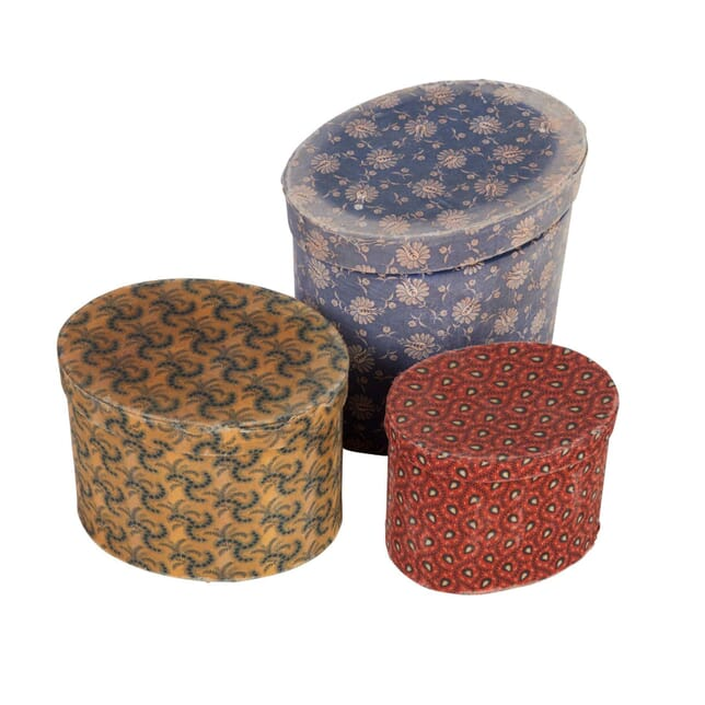Group of Fabric Covered Boxes DA5558011