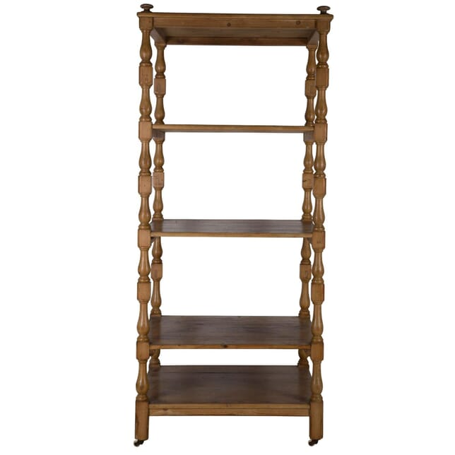 Large English Country House Pine Linen Shelves OF235123
