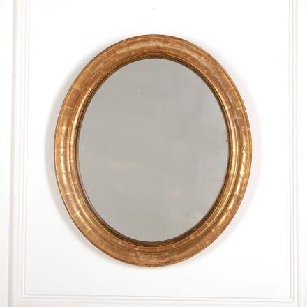 19th Century French Oval Mirror MI157018