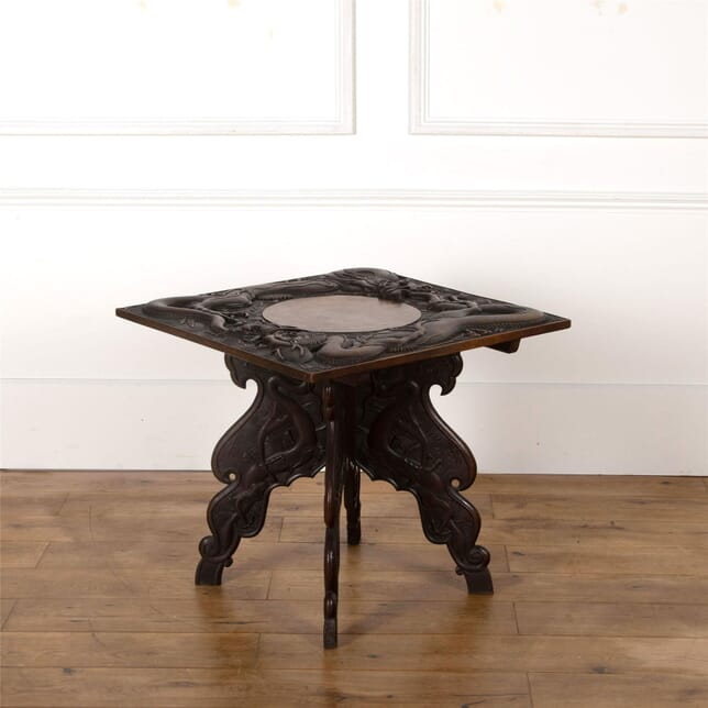 Carved Kashmiri Occasional Table by Jubbar Khan & Son TC9962642