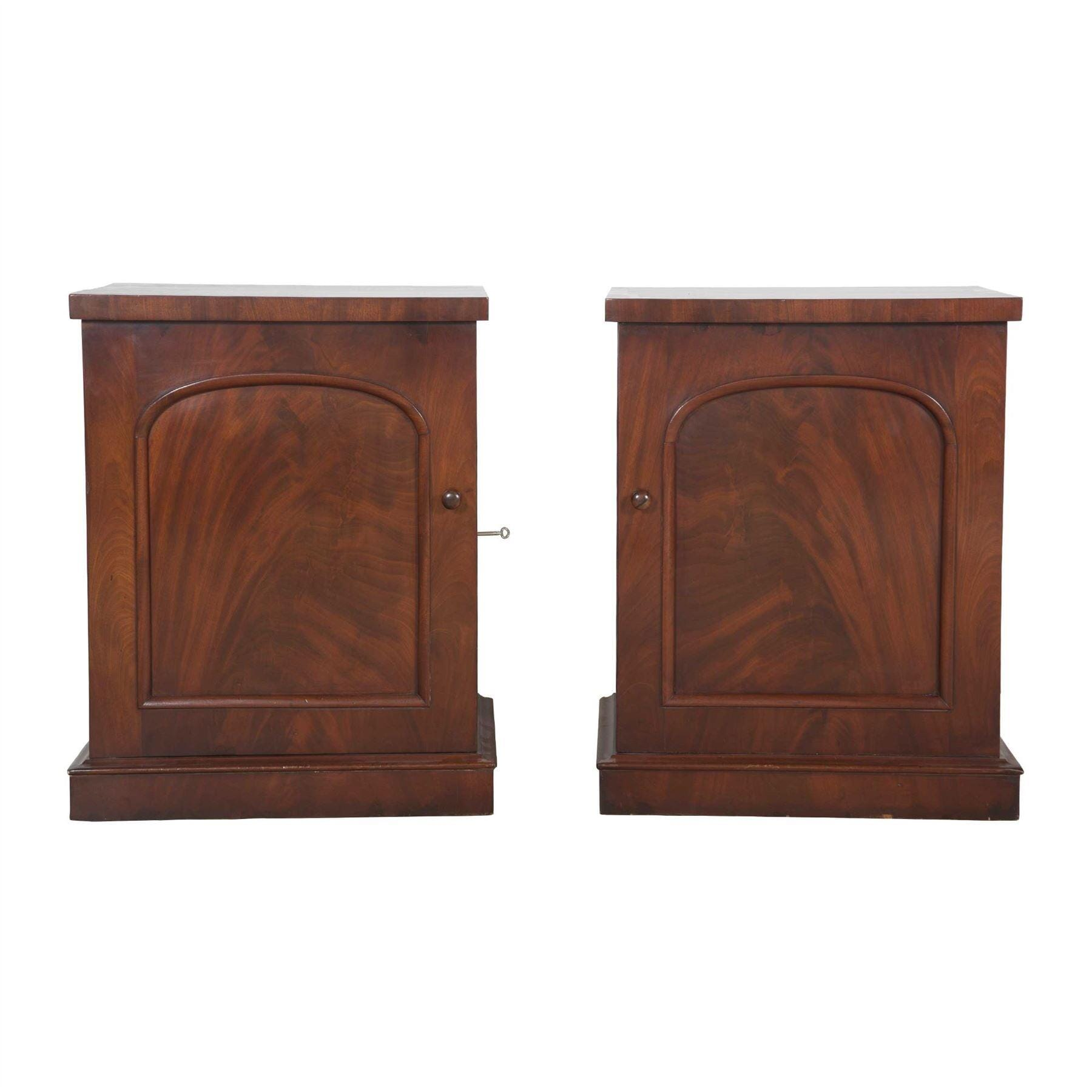the best attitude fb6cb 3f94f Pair of Mahogany Bedside Cabinets
