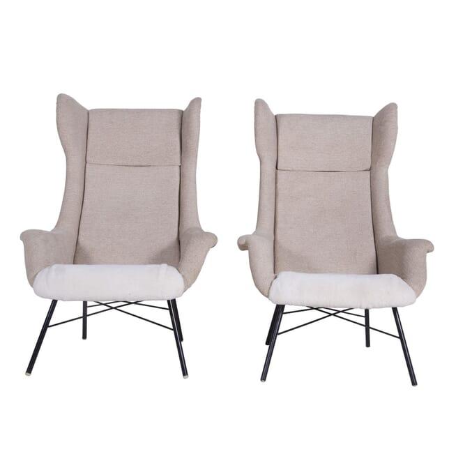 Pair of Czech Wingback Armchairs by Miroslav Navrátil CH5360028