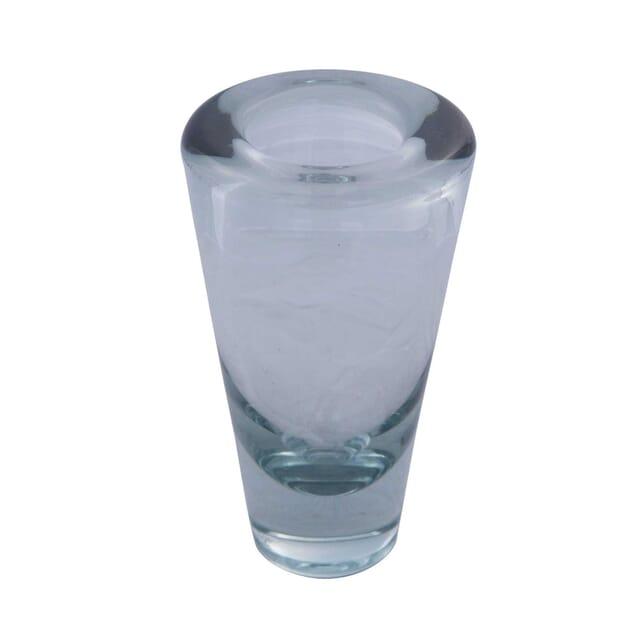 Signed Ice Blue Holmegaard Glass Vase DA5859223