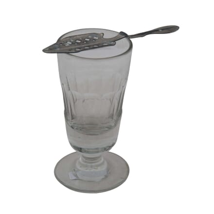 French Absinthe Glass and Spoon DA4454946
