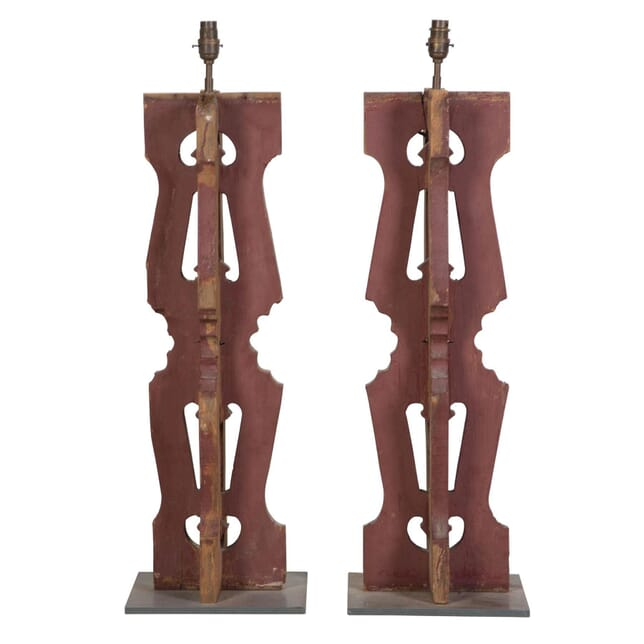 Pair of Balcony Elements Converted to Lamps LT017688
