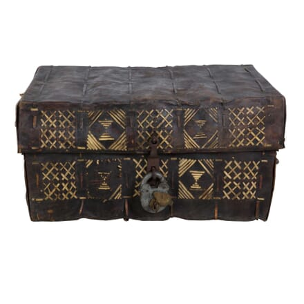 African Hide Deeds Chest DA405028