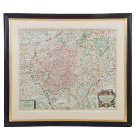 Le Duche De Luxembourg Hand Coloured Map WD0112831