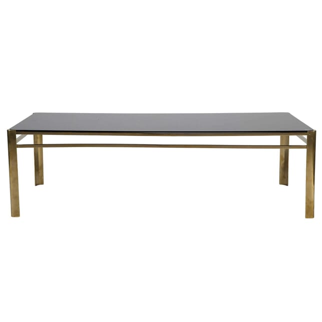 Brass and Opaline Coffee Table CT0112362