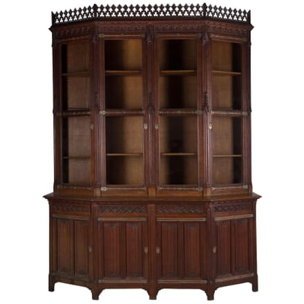 Gothic Revival Library Bookcase BK238664