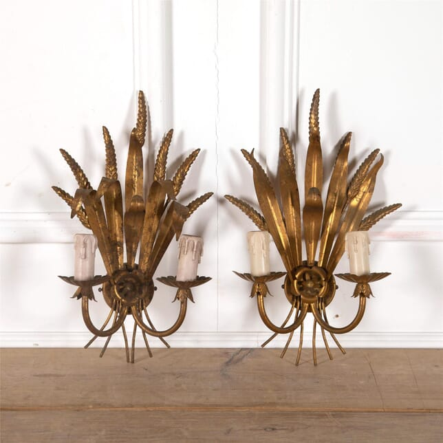 Pair of Gilded Sconces LW3062274