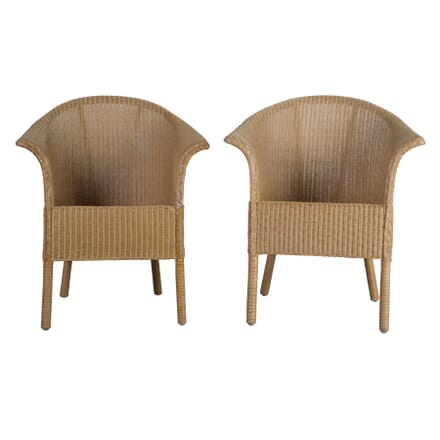 Pair of Lloyd Loom Conservatory Chairs CH0555359