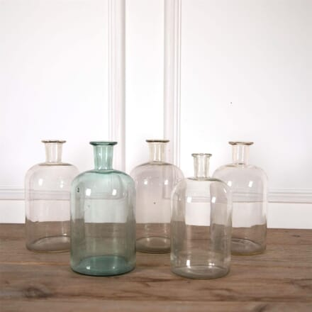 Set of Five Handblown Old Pharmacy Jars DA7161161