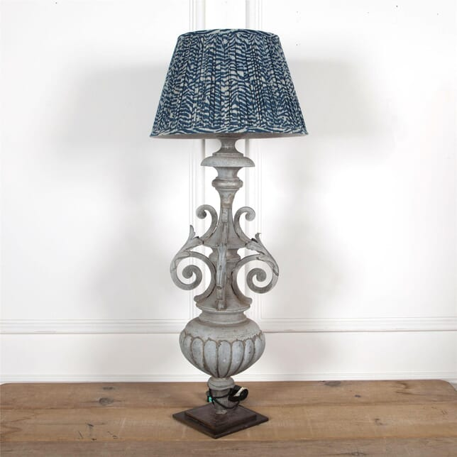 19th Century Architectural Fragment adapted to a Zinc Lamp LT6061932