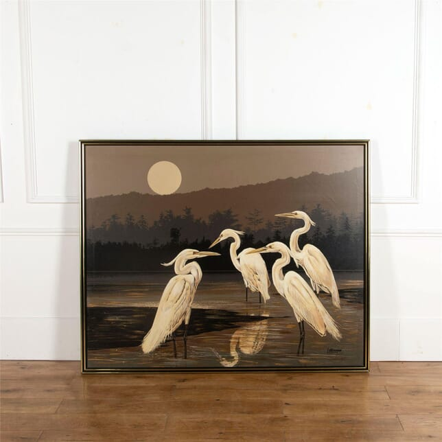 Oil Painting of Herons WD537249
