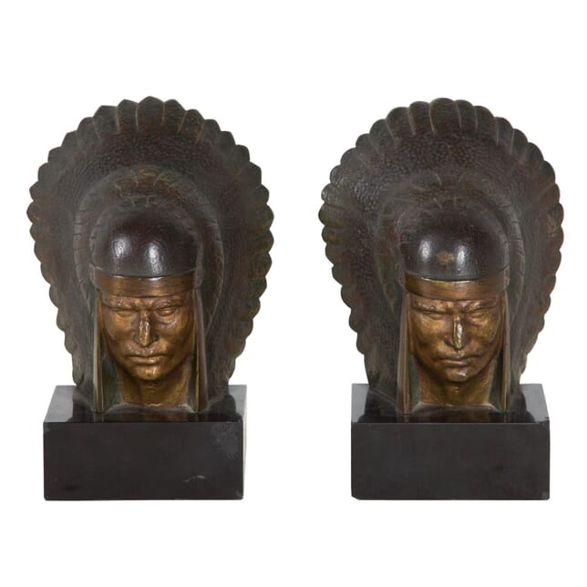 A Pair of Bronze Bookends DA177519
