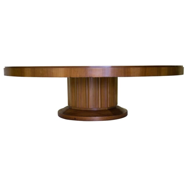 Large French Walnut Deco Pedestal Table TD2310435