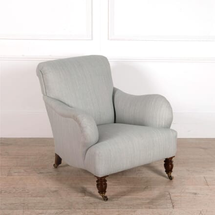 Large 19th Century Upholstered Armchair CH017595