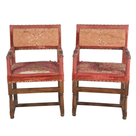 Pair of 17th Century Armchairs CH4753901