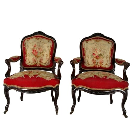 Pair of 19th Century French Rosewood Chairs CH7260781