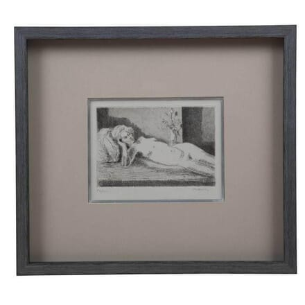 Etching of Reclining Nude by Maurice Asselin WD2955000
